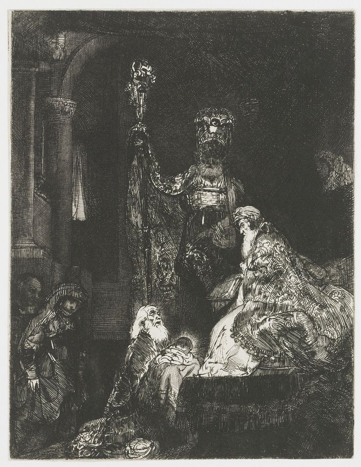 The Presentation in the Temple by Rembrandt Harmensz. van Rijn, 1652 - 1656. Rijksmuseum, Public Domain