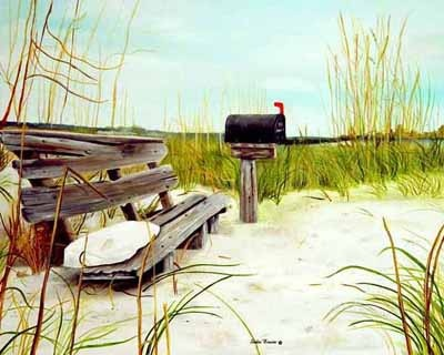Sunset Beach, North Carolina. My favorite place in the world. This is the mailbox of Kindred Spirit.