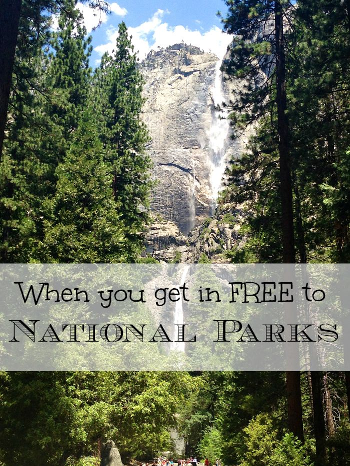 If you're looking to visit a National Park this year, here is a schedule for 2015 that offers free admission to National Parks during certain holidays!!