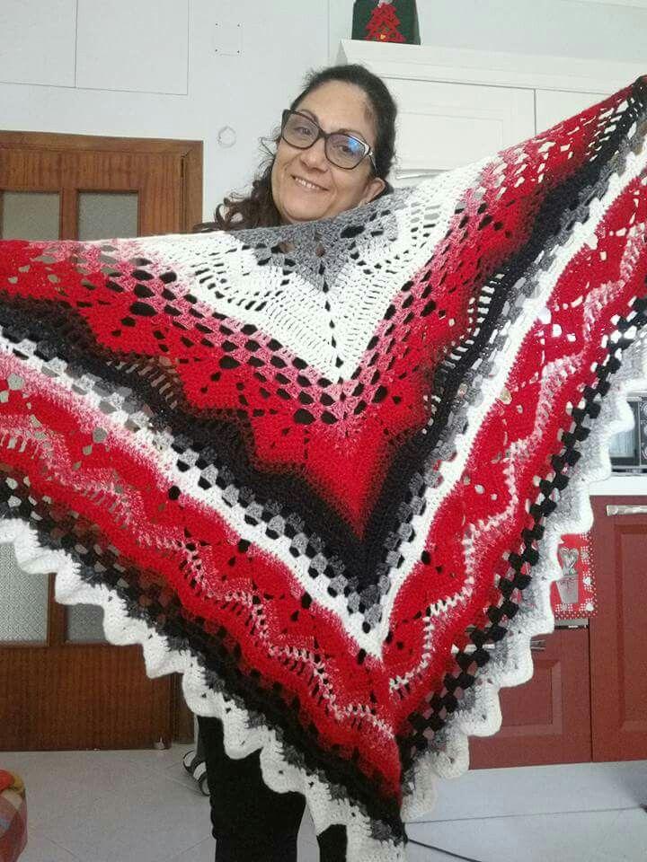 Pin de Laura Dettori en scialli e sciarpe | Pinterest | Chales ...