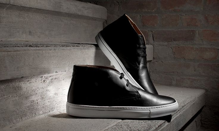 "GREATS Launches the Royale Chukka in ""Nero"" Italian Leather"