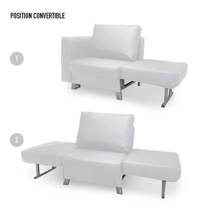 Convertible 1 Place Solo Blanc Fauteuil Convert En 2020 Fauteuil Convertible Fauteuil Mobilier De Salon