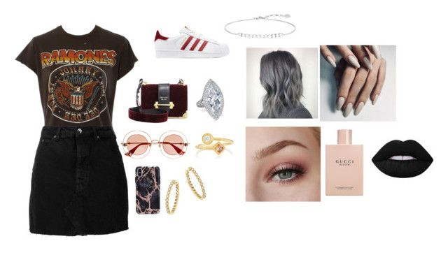 """""""Untitled #107"""" by katelin-elizabeth12 on Polyvore featuring MadeWorn, IRO, adidas Originals, Prada, Gucci, Bloomingdale's, Thomas Sabo and De Beers"""