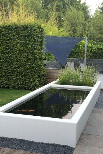 Vijver aluminium - Artiplant. Complete vijvers, fonteinen, watertafels en waterschalen in aluminium of corTen staal.
