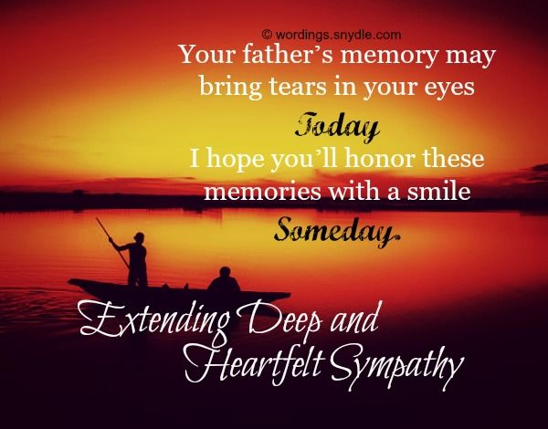 losing your father | was in deep shock to hear that your father has passed away. May god ...