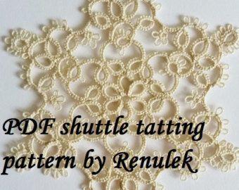 PDF Original Shuttle Tatting Pattern Easter egg2 by Renulek