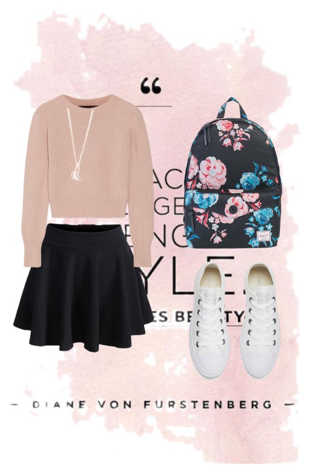 sweater weather by cloverleaf0720 on Polyvore featuring polyvore fashion style The Elder Statesman WithChic Converse Herschel Supply Co. Full Tilt clothing