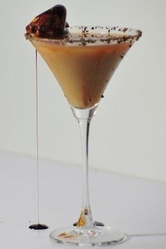 ■2 oz vodka  ■1/2 oz creme de cacao  ■1 marshmallow peep  ■2 tbsp chocolate syrup Before pouring drink into martini glass, wet the rim and invert the glass into a saucer dusted with hot chocolate mix or finely grated dark chocolate.