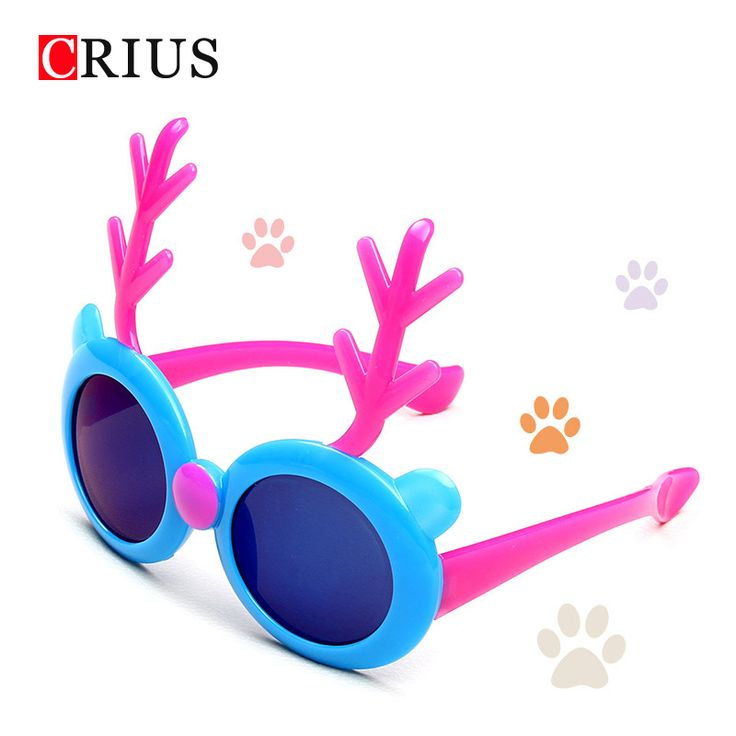 >> Click to Buy << D new children's sunglasses spotted color cute sun glasses for kids wholesale cartoon Reindeer #Affiliate