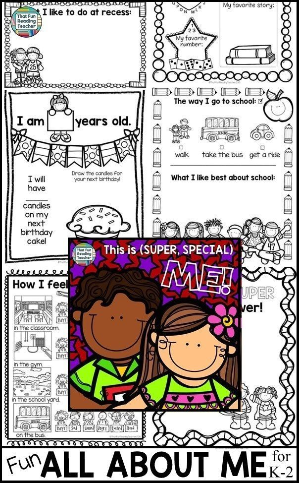 My first graders have so much fun with these All About Me Back to School Activities, that I keep adding more pages! Enjoy! K-2 $