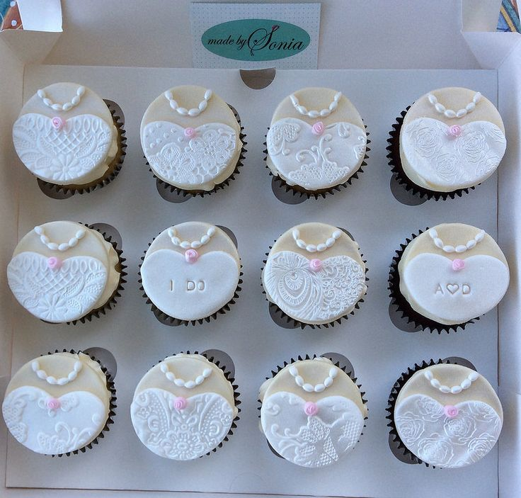 Cupcake Decorating Ideas For Bridal Shower : 361 best images about Beautiful Wedding Cupcake Ideas on ...