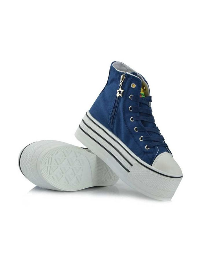 platform converse zip blue