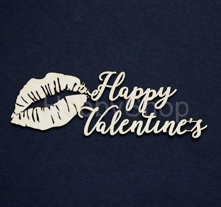 Výrez z lepenky - Happy Valentine