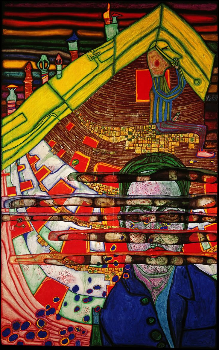 Mourning Schiele, 1965. www.hundertwasser.at