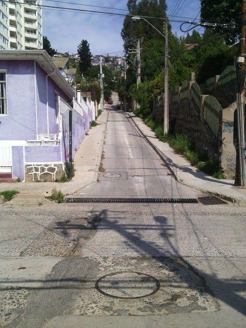 Vista hacia Calle Israel, desde la Av Alemania
