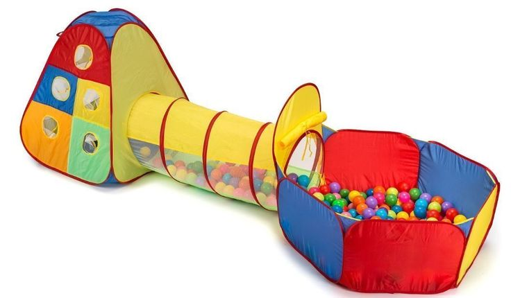 #Bonanza #Kids #Indoor #Outdoor #Pop #Up #Play #Tent #Ball #Pit #Tunnel #Playhouse #Balls #Included #PopUpPlayTentBallPit