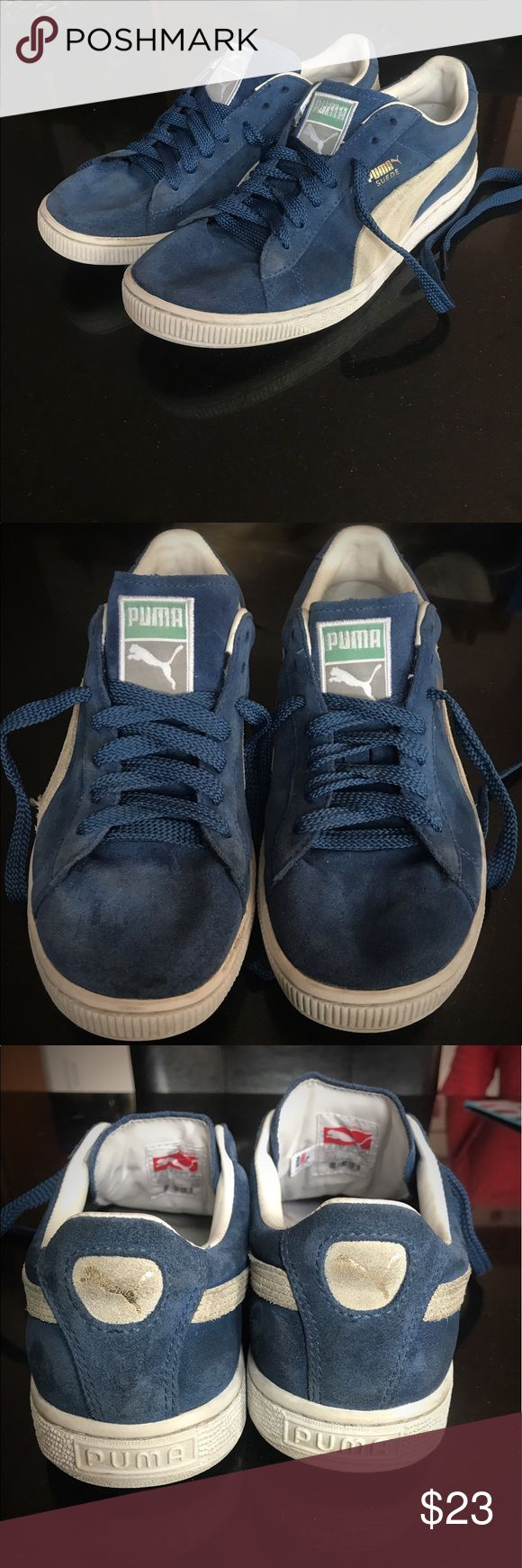 Details about puma womens suede classic rg black running shoes - Puma Suede Blue