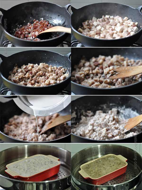 Steamed Chinese Taro aka Yam Cake (Wu Tao Gao  芋頭糕)