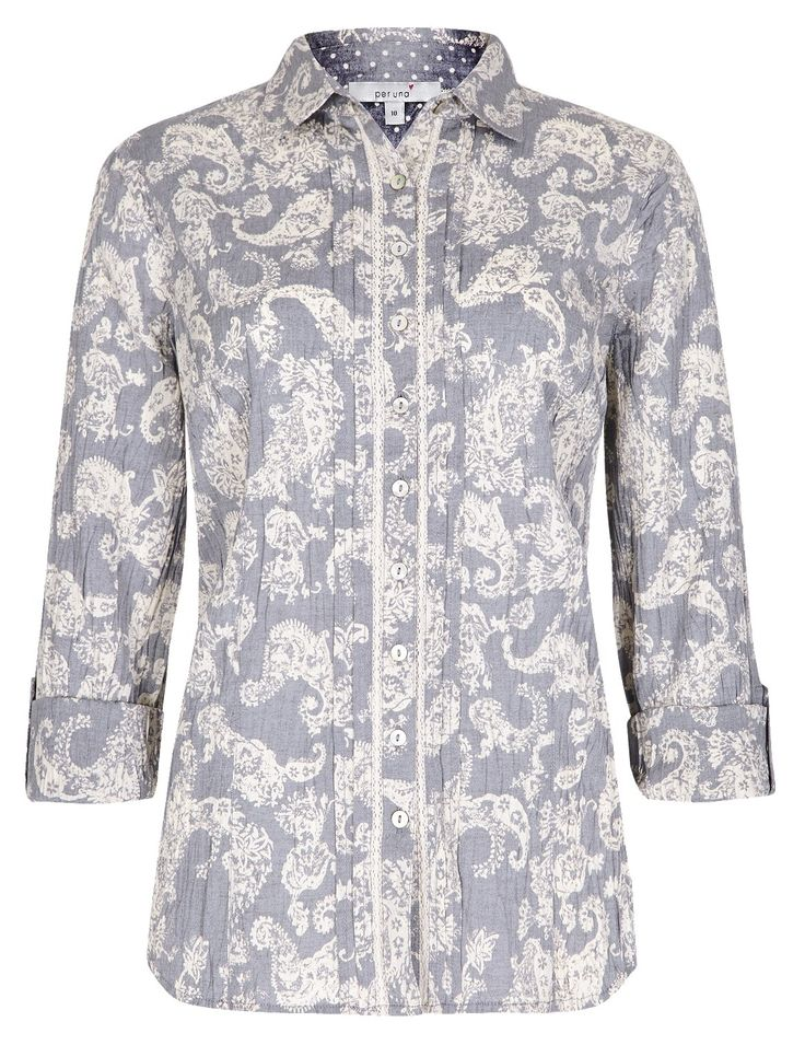 No Peep™ Pure Cotton Paisley Print Shirt -M&S