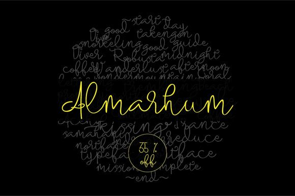 Almarhum 35% off by Incools Design Studio on Creative Market