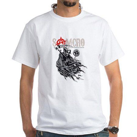 CafePress Mens Sons of Anarchy Samcro Shirt, Men's, Size: XL, White