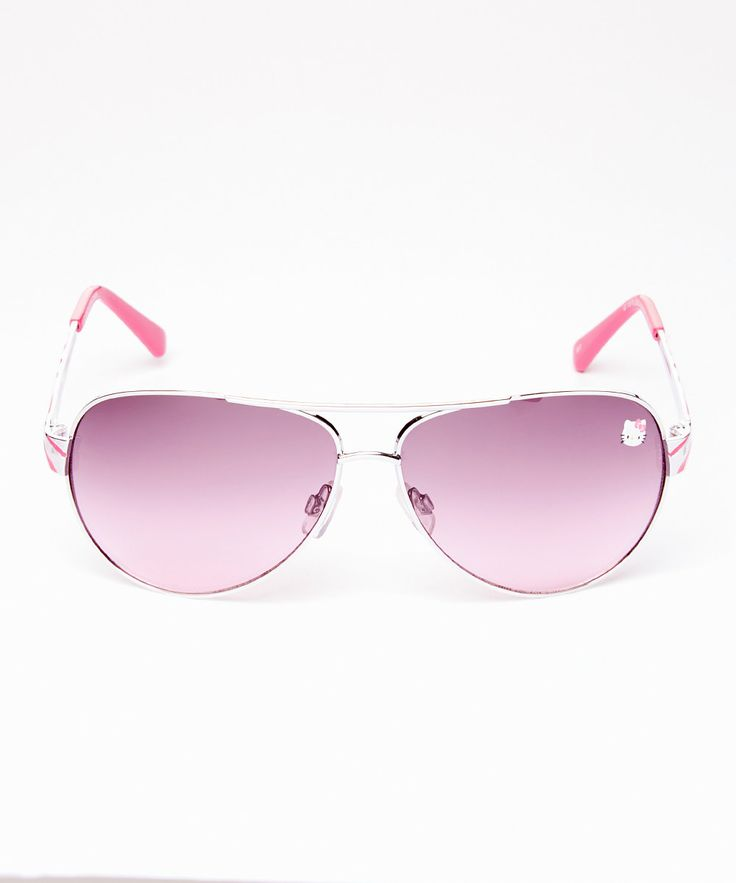 HK |❣| HELLO KITTY Fuchsia Pilot Sunglasses