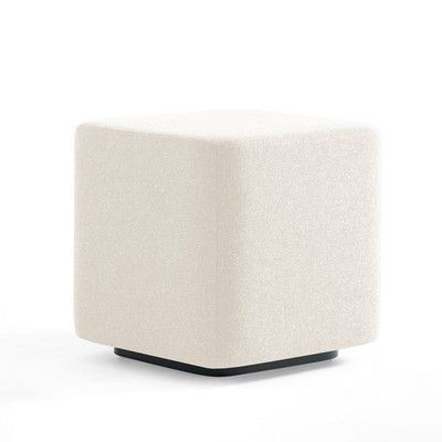 Kimball Office Dwell Ancillary Square Ottoman Color: Dolce White