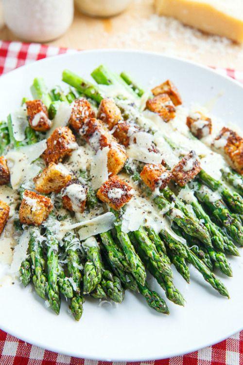 yummyinmytumbly:  Caesar Grilled Asparagus