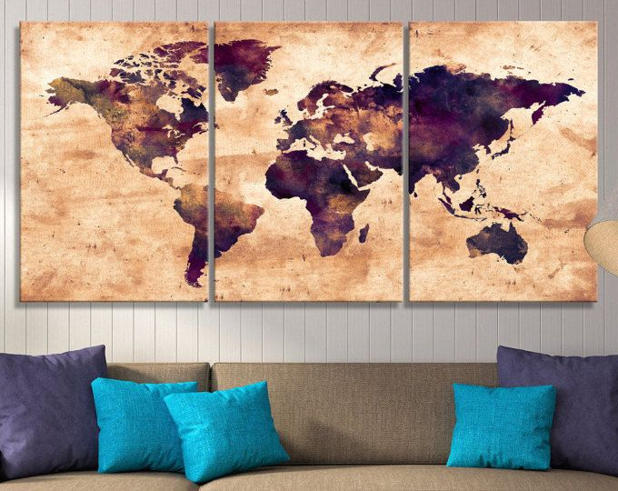 watercolor world map canvas print sephia watercolor world map canvas print world map art