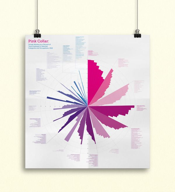 Female Employment Data Visualization by Brianna Sullivan, via Behance