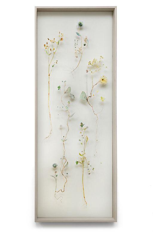 Flower construction #45 (w:50 h:130 d:6.5 cm) --Anne Ten Donkelaar