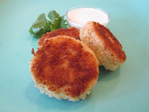 Potato Cod Cakes w/ Lemon Yogurt Dipping Sauce on Weelicious: Potato ...