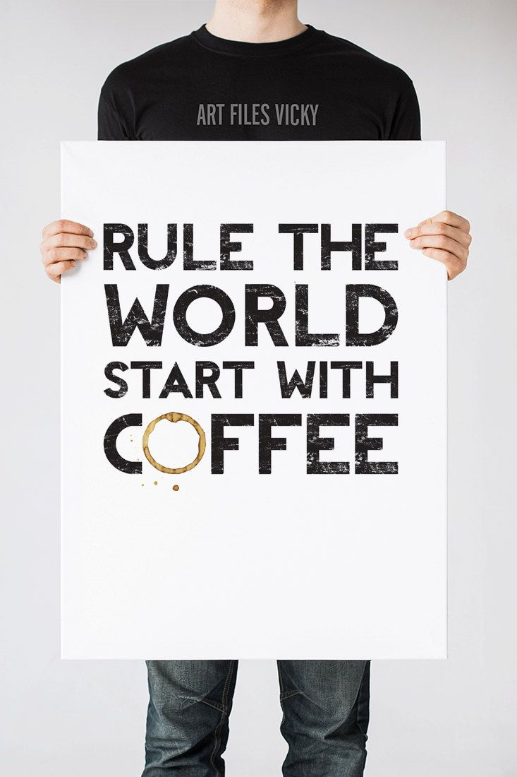 Coffee Art Print, Kitchen Wall Art, Coffee Quote, Wall Decor, Inspirational Print, Digital Typography Poster Art Print, Art Files Vicky by ArtFilesVicky - Found on HeartThis.com @HeartThis | See item http://www.heartthis.com/product/488858004342242348?cid=pinterest