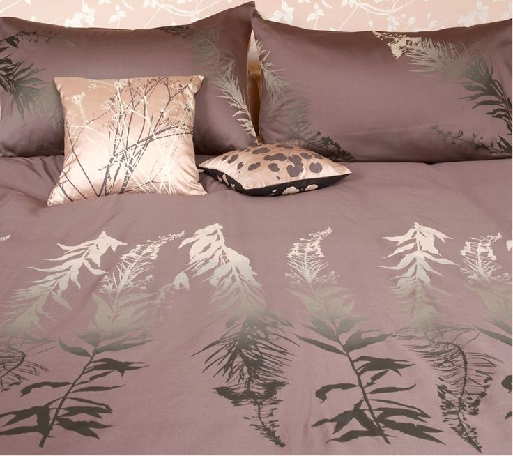 Clarissa Hulse Single duvet cover with shiny leaf design. Quite a modern look!  http://www.comparestoreprices.co.uk/duvet-covers/paco-rabanne-clarissa-hulse-single-duvet-cover.asp