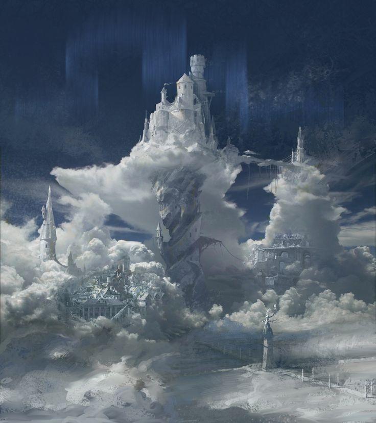 Cloud Castle, jiang shuainan on ArtStation at http://www.artstation.com/artwork/cloud-castle-d871b44a-c773-492e-8679-f87da85386c5