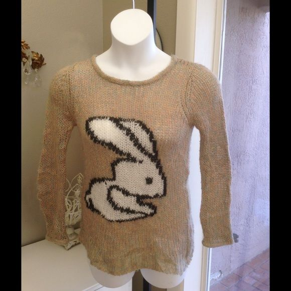 Easter Miss Selfridge bunny Sweater 8 Soon cute .. Bunny sweater by UK designer Miss Selfridge Miss Selfridge Sweaters Crew & Scoop Necks