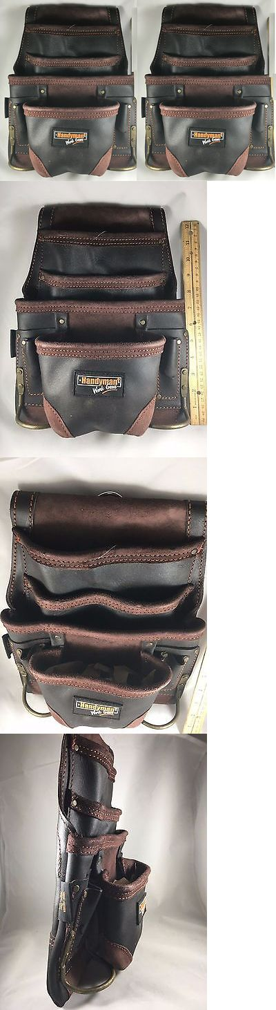 Bags Belts and Pouches 42362: 2 Pack Carpenter Tool Bag Oil Tan Leather 10 Pocket Waist Belt Handyman Pouch -> BUY IT NOW ONLY: $69.25 on eBay!
