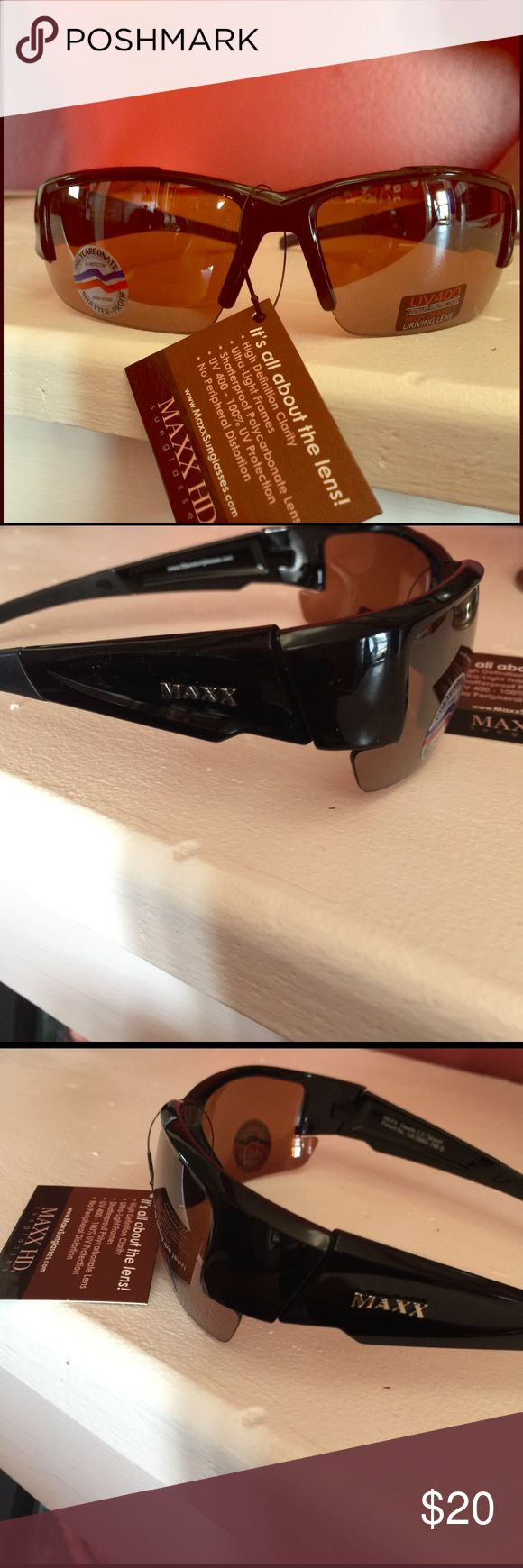 Maxx sunglasses UV 400 with high def clarity. Great for sports Maxx Accessories Sunglasses