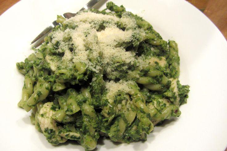 Pasta met kip, spinazie en zure room - www.Recepten.be