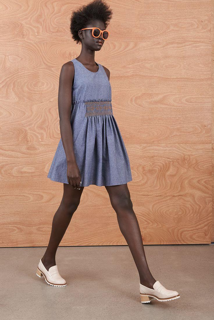 Smocked Singlet Dress 'Domestic Fantastic' Resort Collection http://sistersandco.co.nz/products/kwsmockedsingletdress