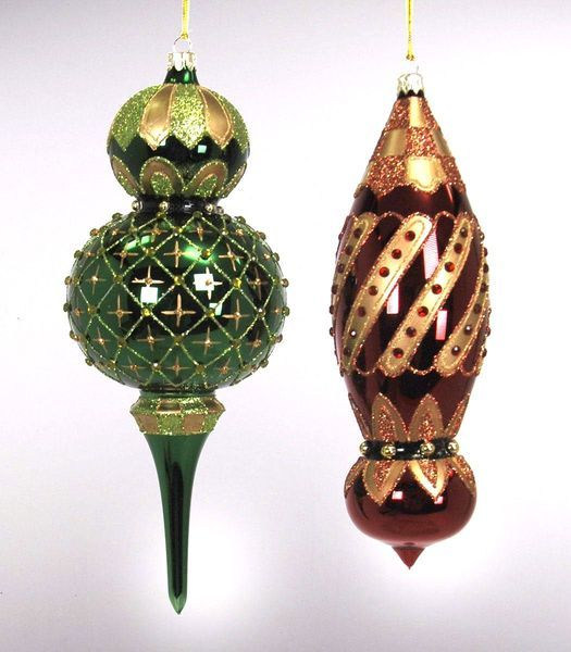 Katherine's 2013 Woodland Renaissance Christmas Collection Set Six Assort  Woodland Finial Glass Ornaments - 313 Best Christmas/Ornament Obsession Images On Pinterest Glass