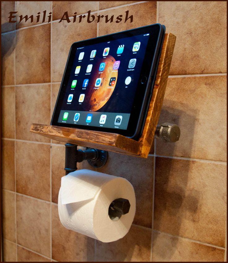 7 besten toilettenpapier und tablet halter bilder auf pinterest tablet halterung beton diy. Black Bedroom Furniture Sets. Home Design Ideas
