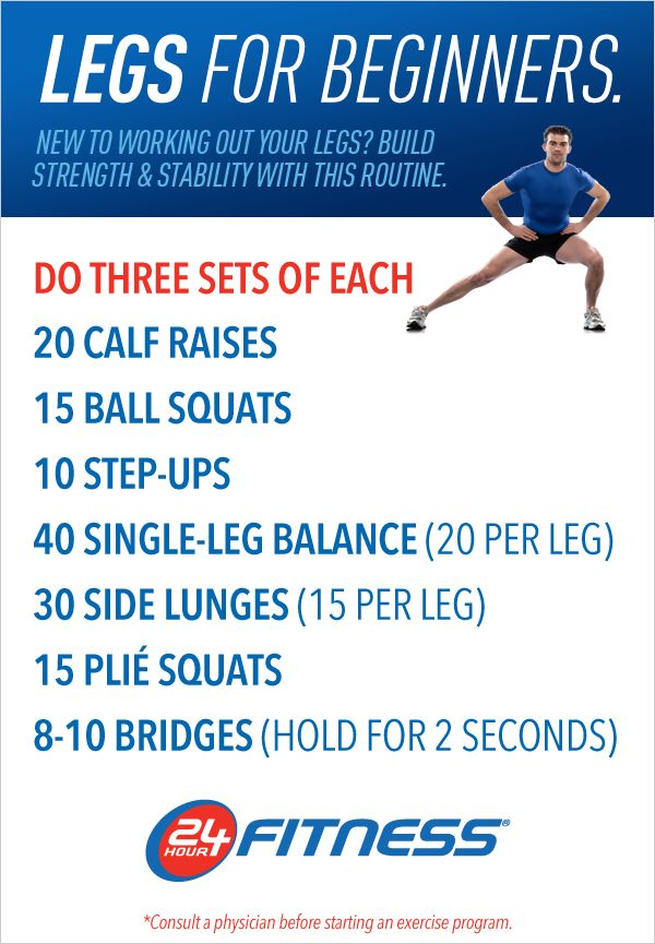 This is a great leg workout for those who are new to working out!