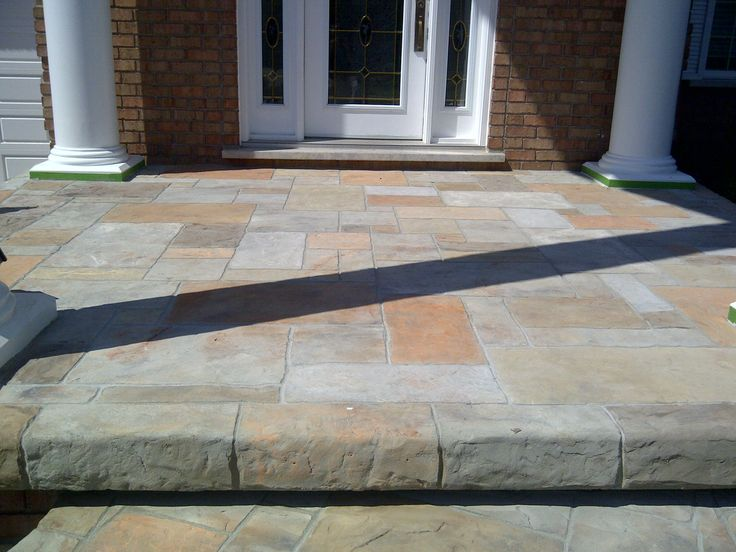 This is a front walkway that Hickory Dickory Decks repaired with a product called Flex-C-Ment.