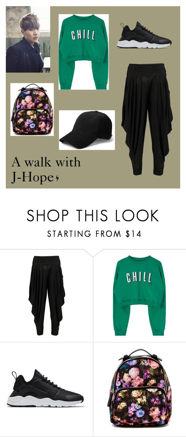 """A walk with J-Hope"" by frencyl on Polyvore featuring moda, Boohoo, NIKE, Madden Girl e rag & bone"