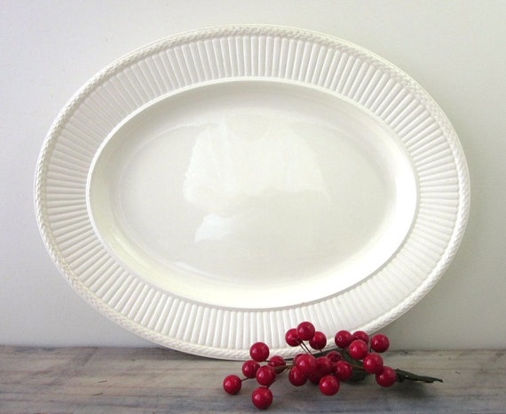 Vintage White Wedgwood Platter Edme by 22BayRoad on Etsy, $42.00