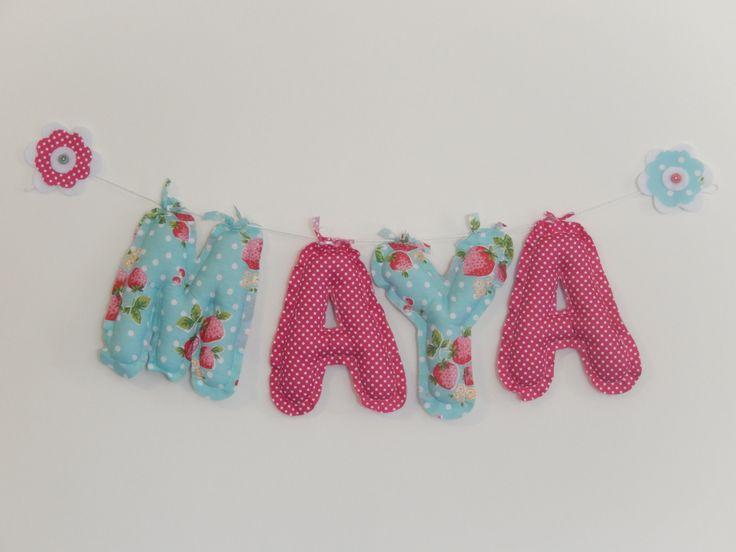 Girl Name Bunting Strawberry Fields - Nursery & Bedroom
