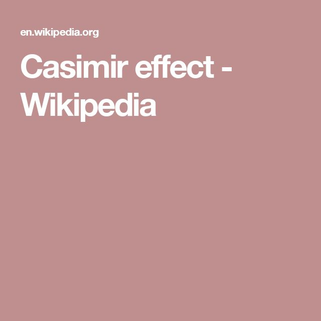 Casimir effect - Wikipedia