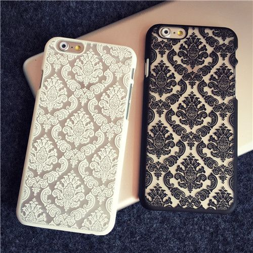 Phone Case Back Cover for Apple iphone 6S Plus Case Transparent Hybrid Damask Vintage Flower Pattern Luxury 6 6S 4.7 6S Plus | iPhone Covers Online