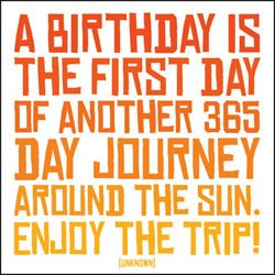 Birthday quote at propertopper.com - Nice to make a card with this quote on it.